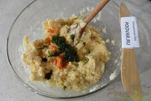 Лепешки из картофельного теста с сыром Шаг 7 (картинка)