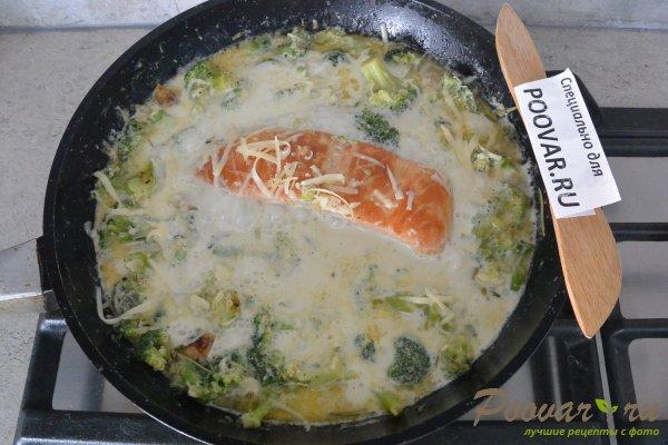 Семга с брокколи в сливочном соусе Шаг 10 (картинка)