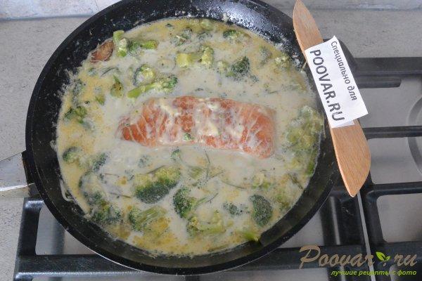 Семга с брокколи в сливочном соусе Шаг 11 (картинка)