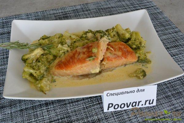 Семга с брокколи в сливочном соусе Шаг 13 (картинка)