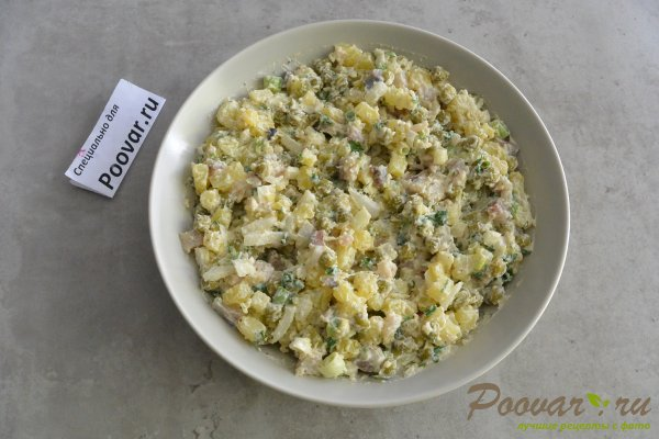 Салат из селедки с картошкой и луком Шаг 11 (картинка)