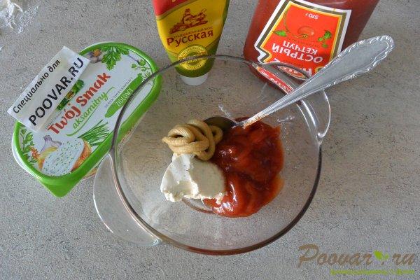 Рулетики с сыром колбасой Шаг 6 (картинка)