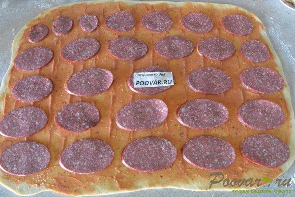 Рулетики с сыром колбасой Шаг 11 (картинка)