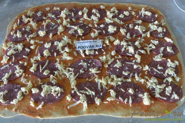Рулетики с сыром колбасой Шаг 12 (картинка)